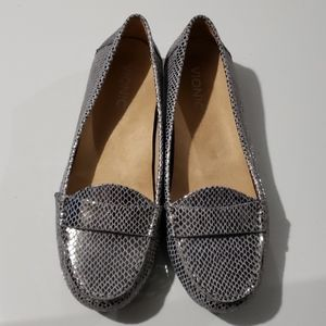 Vionic Silver & Gray Loafers NEW Size 8.5